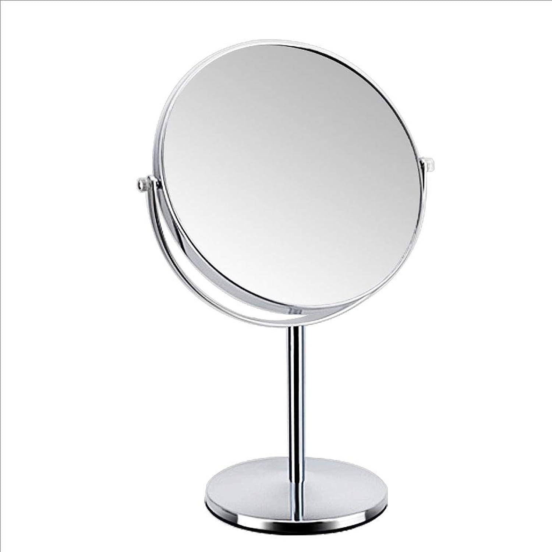 European Bright Silver color Makeup Mirror 8 Inch Mirror Portable Vanity Mirror Double Side Mirror (color   -, Size   -)