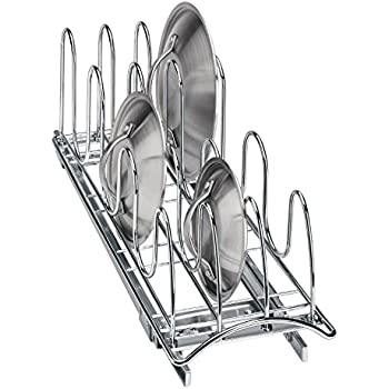 Lynk Profesional Roll out Pan Tapa Holder–Pull out Cocina gabinete Organizador Rack–Chrome