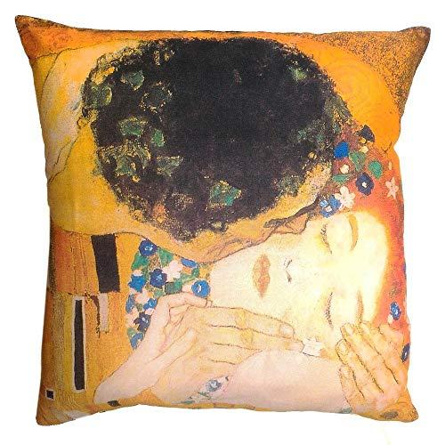 Tessitura Randi - Cuscino arredo Decorativo Randi 40x40 Quadri d'autore Bacio Klimt