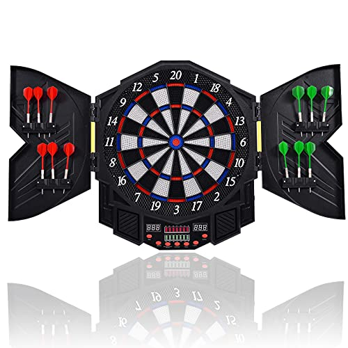 Goplus Professional Electronic Dart Board Cabinet Set Dartboard Game...