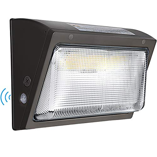 Hykolity 120W LED Wall Pack Light with Dusk-to-Dawn Sensor,15600lm 5000K Daylight Commercial Security Lighting,750W MH Equivalent, 100-277V, Waterproof LED Outdoor Wall Mount Light for Warehouses