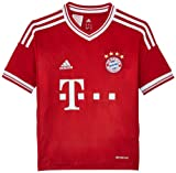 adidas Kinder kurzärmliges Trikot FC Bayern Home Jersey Youth, Fcb True Red/White, 176