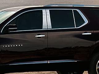 QAA fits 2018-2020 Chevrolet Traverse (6 Piece Stainless Pillar Post Trim) PP58166