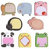 40 Pacchetti Note Adesive Animali, Color Note adesive, Set di Note Adesive Carine, Mini Note Adesive, Note Super Adesive, per Scuola, Promemoria per l'ufficio, Regali per Bambini per Alunni