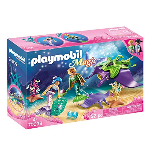 PLAYMOBIL Magic Buscador Perlas, Color carbón (70099)