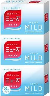 アース製薬 ミューズ マイルド 石鹸 3個パック(標準重量95g×3個)微香性タイプ 医薬部外品×40点セット (4906156800425)