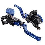 CNC Aluminio 7/8'22mm motocicleta freno hidráulico palanca de embrague conjunto con depósito cilindro maestro (azul)