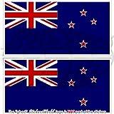 Neuseeland Flagge Kiwi 7,6cm (75mm) Bumper Sticker, Aufkleber Vinyl X2