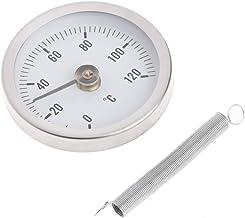 JENOR Termómetro con clip para tubo de dial, medidor de temperatura, medidor de temperatura bimetal y resorte 63 mm 120 ℃