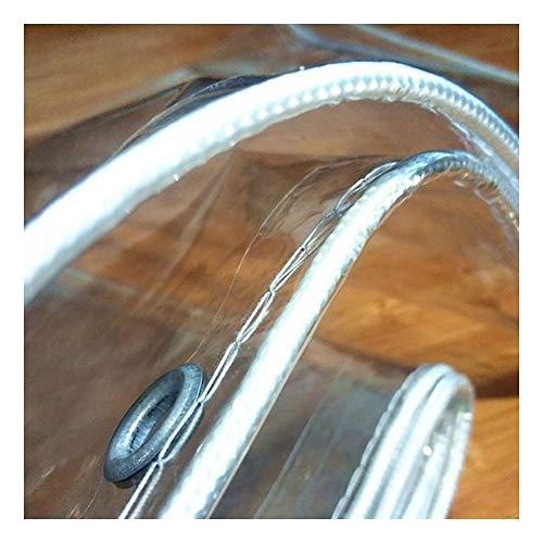 GDMING Transparente Lonas Impermeables Exterior Lona De Protección Tarea Pesada Ojales PVC Vidrio Suave UV Y Resistente Al Frio Fácil De Usar,44 Tamaños (Color : Claro, Size : 3X8M)