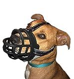 GUXL Luxury Soft Rubber Dog Muzzle - Anti Biting Barking Chewing - Adjustable Silicone Basket Mask Muzzle - for Small Medium Large Dog Safety (Size 5)