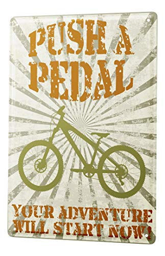 LEotiE SINCE 2004 Blechschild Vintage Retro Metallschild Wandschild Blech Poster Nostalgie Fahrrad Mountainbike