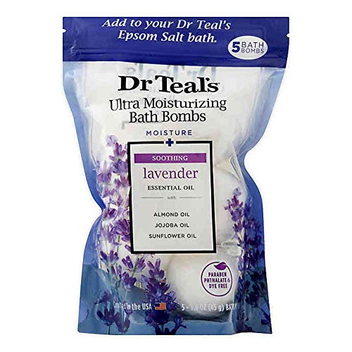 5-Count Ultra Moisturizing Bath Bombs in Lavender with Essential Oils, Repair Damaged Skin