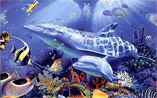Puzzel 35 Stukjes Twee Blauwe Dolfijnen, Educatieve Spellen, Puzzelgeschenken Voor Vrienden