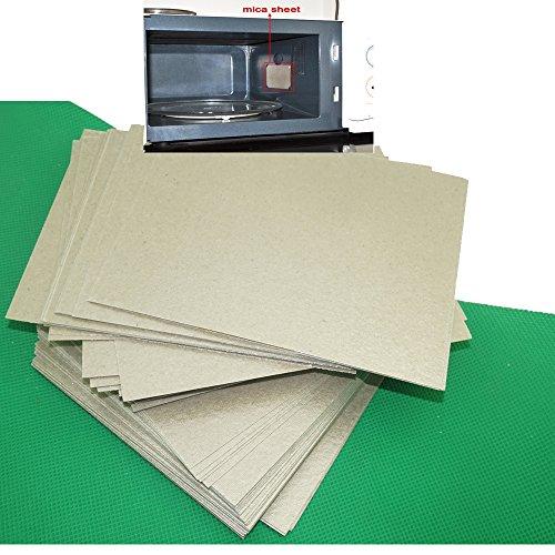4 piezas de reparación de hornos de microondas partes de mica, hojas de guía de ondas, 15 cm x 12 cm
