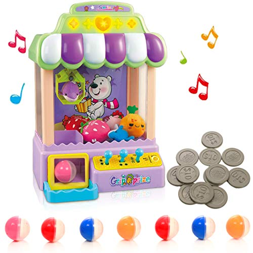 IQ Toys Claw Machine, Mini Electronic Arcade Grabbing Toy for Kids with Music, Prizes not Included