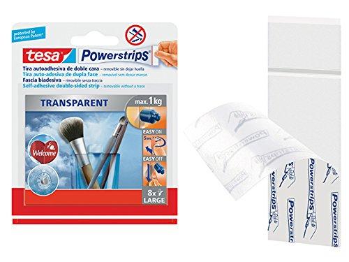 Tiras adhesivas transparentes de doble cara tesa Powerstrips