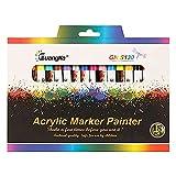YuKeShop 18 Farben Aquarellstift, kreativer Fineliner-Stift, Keramikmalstift, Malbuch, Büro,...