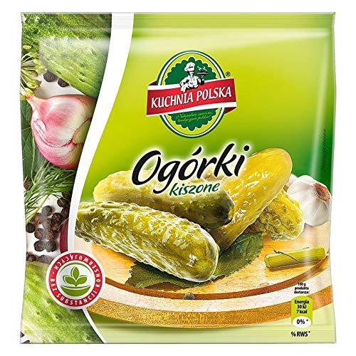 """KuchniaPolska \""""Ogorki Kiszone\"""" Saure Gurken Im Beutel, 6 Stück, 6er Pack (6 x 18 g)"""