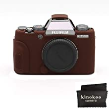 kinokoo Silicone Cover for Fuji X-T100 Protective Case Rubber Cover  coffee
