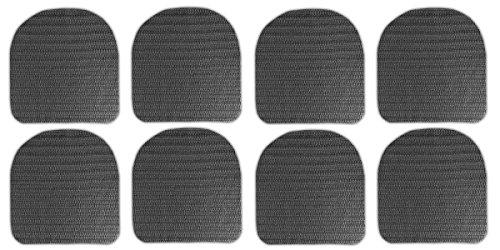 HAC24 8X Antirutschmatte für Stuhlkissen Rutschmatten Stuhlauflagen Gummimatte Kissen