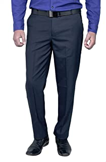 Zee Gold Men's Relaxed Fit Formal Trousers