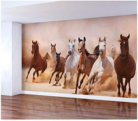 Horses Wall Mural Peel and Stick Wallpaper Vinyl 大人気 Adhesive タイムセール Self