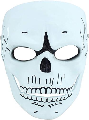 solo para ti Halloween Halloween Halloween Christmas Mask 007 Ghost Party Máscara de Resina Human Smiley COS Movie Theme Terrorist Party Artículo de coleccionista Máscaras (Color   blanco, Talla   18  21CM 7  8inch)  bajo precio del 40%