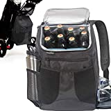 Athletico Golf Cooler Backpack - Soft Sided Insulated Cooler Bag Holds a 12 Pack of Cans or Two Wine Bottles (Black)