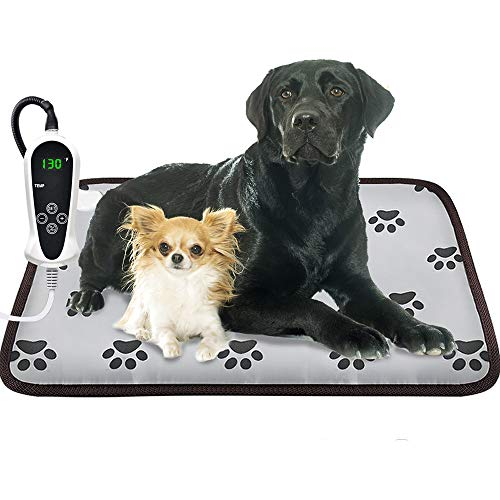 EACHON Heating Pad for Dogs Cats Electric Heated Pet Beds Mat with Timer Warming Pet Mats Safety Dog House Heated Waterproof Heated Dog Cat Blanket Heated Bed Pad Mat wifh Free pet Comb (XL 3421in)