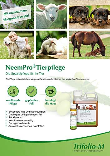 NeemPro Tierpflege 100 ml für gepflegtes Fell Haustier Pferd Shampoo mit Margosaextrakt Neem ohne Auswaschen - 4