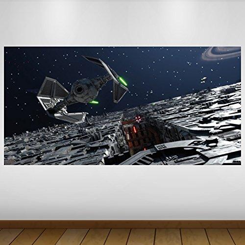 LagunaProject Extra Grande Star Wars de Caza Imperial de Vinilo de fantasía Póster - Mural Decoración - Etiqueta de la Pared -140cm x 70cm