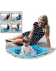 Smart Planet® Piscina de playa desplegable para niños pequeños – 80 x 80 x 15 cm piscina infantil para jugar en la arena