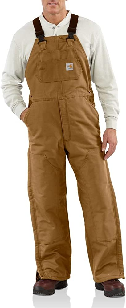 Carhartt Men's Flame Resistant Lined Bib All stores are sold Popular Duck Overall
