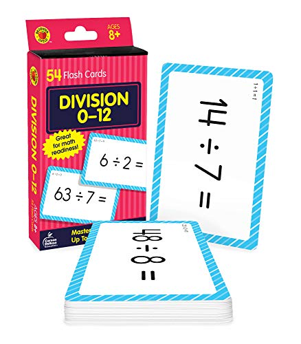 Carson Dellosa Division Flash Cards—Grades 3-5 Double-Sided Cards, Dividing Select Factors Through 12, 100 Math Problems for Elementary Mathematics Practice (54 pc)