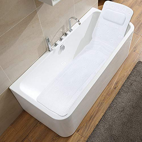 Bath Pillow Full Body, SurSoul Quick-drying Spa Pillow for Tub, Bathtub Pillow with Soft PVC, Bath Bed with Suction Cups