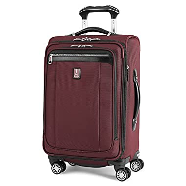Travelpro PlatinumMagna2 Carry-On Expandable Spinner Suiter Suitcase, 21-in, Marsella Red