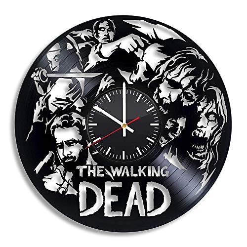 LKCAK Dead Dead Decoraciones de Pared, Regalo Original Walking Dead Clock para él Su Sala de Estar Decoración de Cocina Accesorio Artículos de Fiesta Hechos a Mano Artículos Vintage Obra de Arte