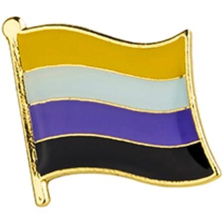 Gay /& Lesbian Pride Flag Rainbow LBGTQ Lapel Pin