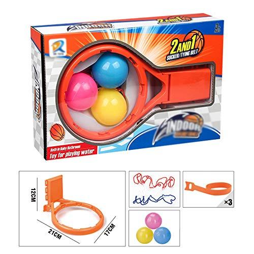 2 in 1 Basketball Badespielzeug, Badewanne Schießen Spiel, Spaß Bath Basketballkorb, Baby-Spaß-Bad-Spielwaren Basketball Hoops Spielzeug-Set Für Kinder Kleinkind-Jungen-Mädchen,A