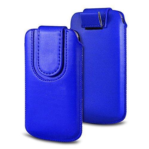 N4U Online Various Farbig Magnetisch PU Leder Zug Kippen Tab Schutzhüllen Tasche für Doogee F3 Pro - Dunkelblau