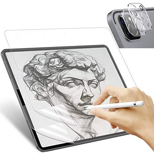 IVSO Kompatibel mit iPad Pro 11 (3.Gen) 2021 Like Paper Schutzfolie, Zeichnen und Skizzieren Like wie auf Papier mit Apple Pencil, (Nicht Panzerglas), mit Kamera Schutzfolie, 2 Stück