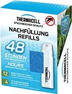 """Contains 4 butane cartridge and 12 repellent mats for up to 48 hours of biting protection Provides 4.6 metres by 4.6 metres """"Zone of Protection"""" against bugs or 225 square feet when used with a ThermaCell appliance or lantern Flame-free repellent ens..."""