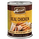 Merrick Grain Free Wet Dog Food Real Chicken Recipe -  (12) 12.7 oz Cans