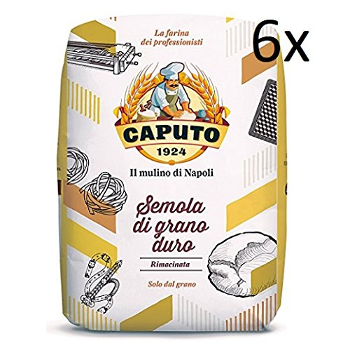 Caputo - Hartweizengrieß - Semola di grano duro rimacinata (6 x 1 kg)