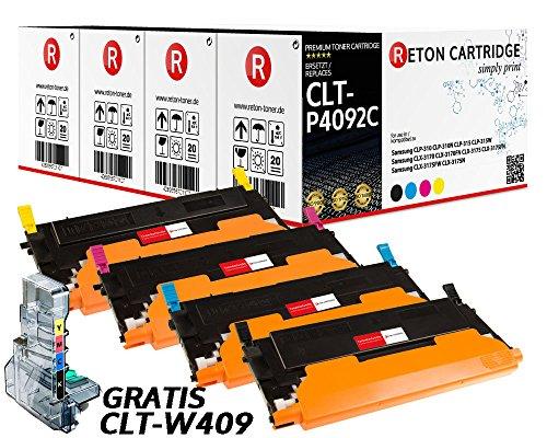 4 Original Reton Toner kompatibel nach (ISO-Norm 19798) ersetzt CLT-P4092C für Samsung CLP-310N CLP-315 CLP-315W Samsung CLX-3170 CLX-3170FN CLX-3175 CLX-3175FN CLX-3175FW CLX-3175N