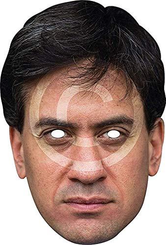 Fantaisie Halloween Robe Soirée Homme politique Character Pré-Découpé Intégral Carte Masque - É Miliband, Taille Unique