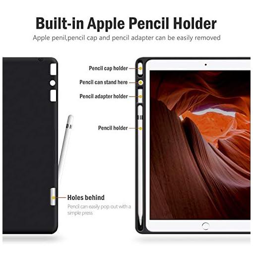 """AUAUA Funda para iPad de 8ª Generación 10.2"""" 2020 / iPad 7ª Generación 2019, con Soporte para lápiz de Apple, Auto Sueño/Estela - Marrón 3"""