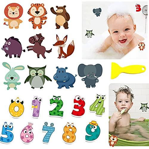 Senteen Antideslizante Bañera Pegatinas, 20 Pcs Pegatinas Bañera Infantiles Decorativas Adhesivos Bañera...