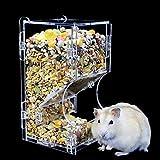 Dispensador automático de Alimentos para hámster, acrílico Transparente, alimentador automático por Gravedad, Adecuado para Alimentar hámsteres, Mini erizos y Otros Animales pequeños